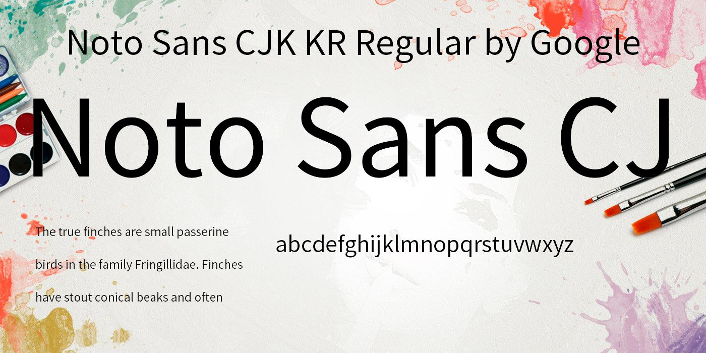 Noto Sans KR: download for free and install for your website or