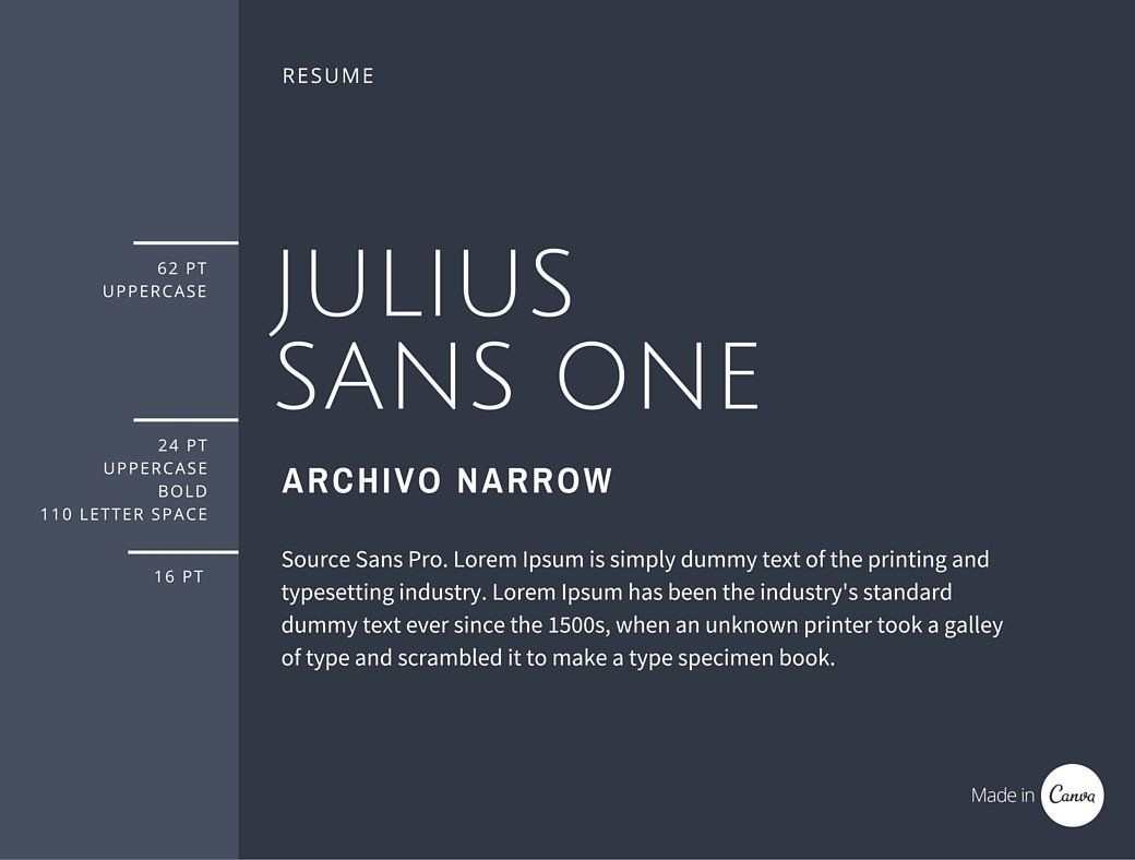 Julius Sans One: download for free and install for your website or